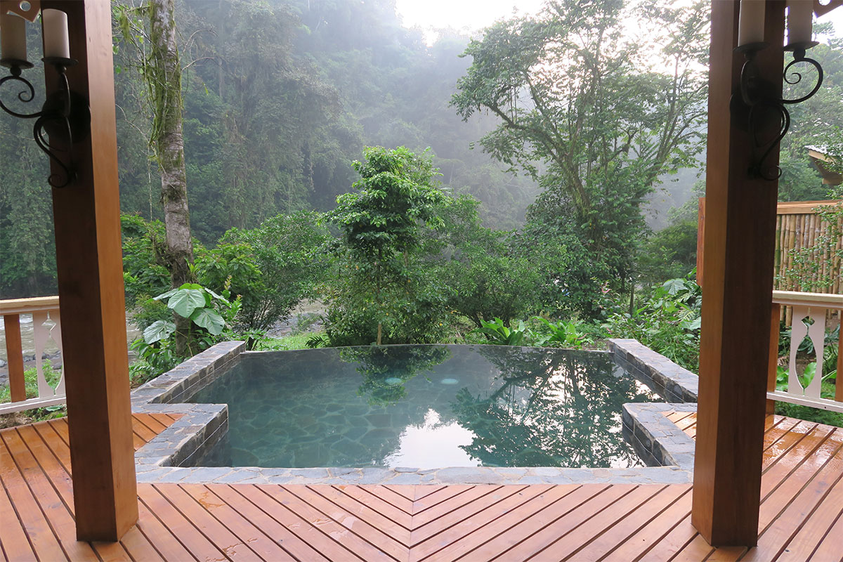 plunge pool in Costa Rica