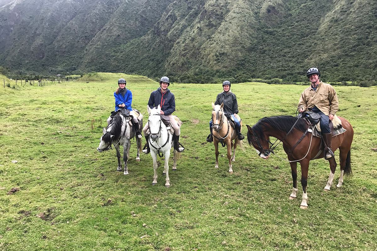 Horse riding on family holiday