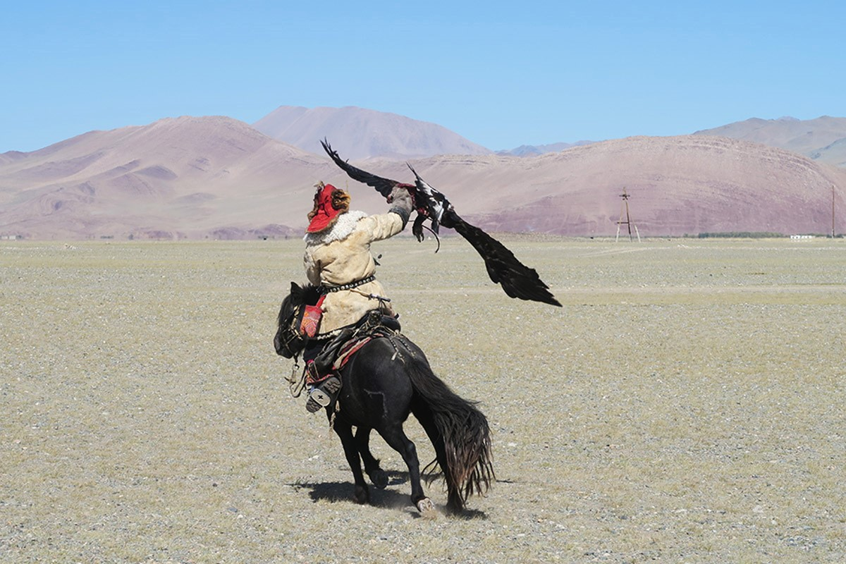 Our day with eagle hunters in Mongolia