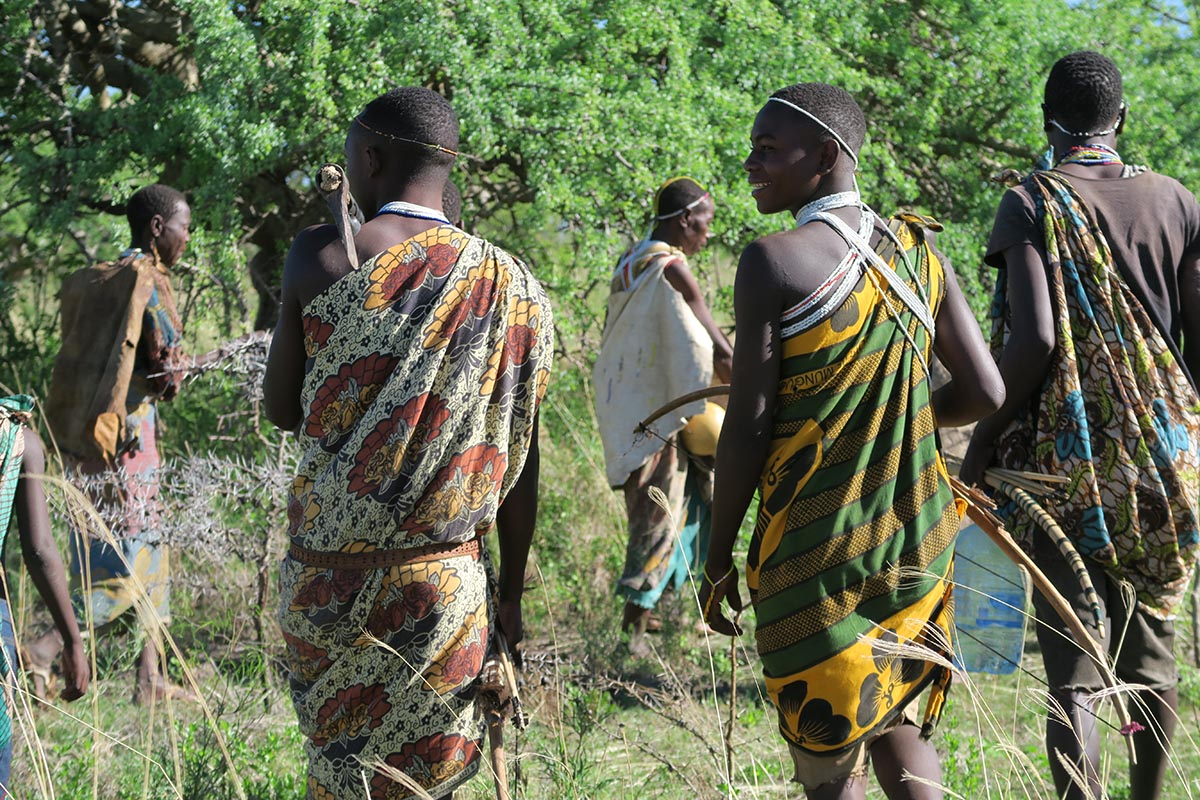 A MORNING WITH THE HADZABE BUSHMEN